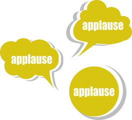 applause word on modern banner design template. stickers