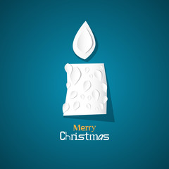 Vector Merry Christmas Theme - Burning Candle