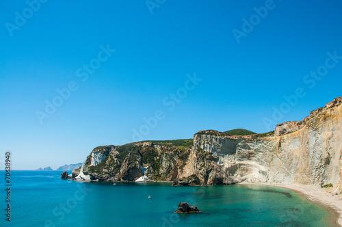 Leinwanddruck Bild Chiaia di Luna isola di Ponza