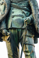 Statua Vittorio Emanuele II, Monumento di bronzo, statua, Pisa