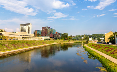 Neris River in Vilnius - Lithuania