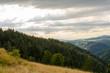 canvas print picture - Sonnenstrahlen am Schwarzwald
