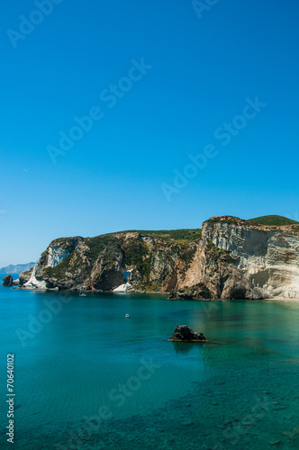 Leinwanddruck Bild Chiaia di Luna isola di Ponza relax