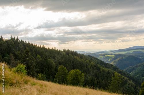 canvas print picture Sonnenstrahlen am Schwarzwald