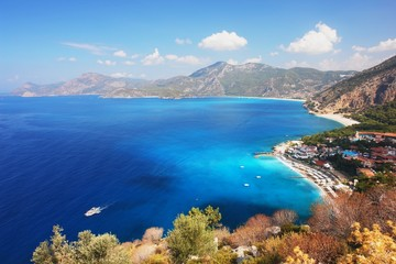View of the coast in Oludeniz, Turkey