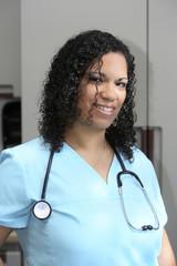 Hispanic Female Nurse Portrait
