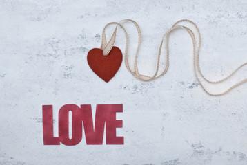 Scritta con il cuore