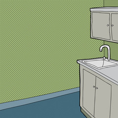 Sink and Cabinet in Room