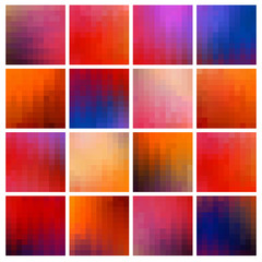 colored pixel backgrounds