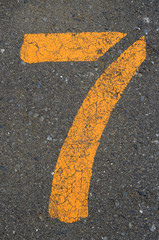 路上の数字