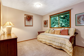 Comfort room interior with bed and pillows