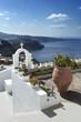 Leinwanddruck Bild - île de Santorin Cyclades Grèce