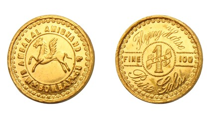 Indian Gold Tola Coin