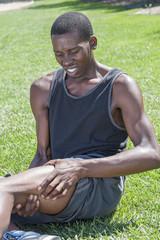 Sports leg injury
