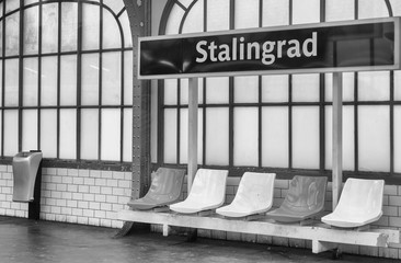 Stalingrad metro station in Paris