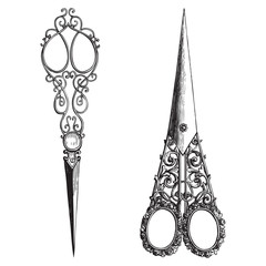 Ornate scissors