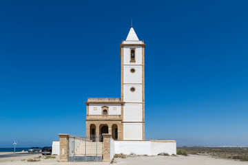 Church Rodalquilar mining town of Cabo de Gata, Spain