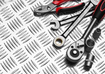 Many Tools on metal