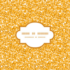 Vector golden shiny glitter texture frame seamless pattern