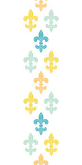 God and blue lily vertical seamless pattern background