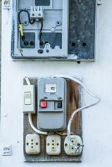 Vecchio Pannello Elettrico, materiale elettrico