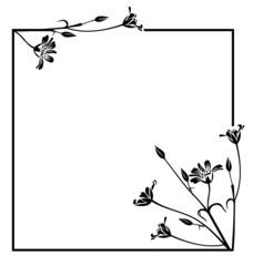floral outline frame