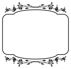 floral outline frame