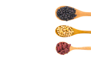 Beans isolated on white background