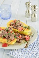 Steak Poke Papaya