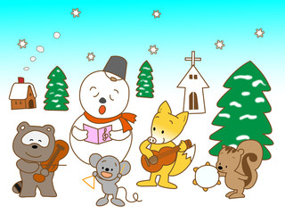 冬の動物の演奏会