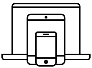 Mobile devices outline icon