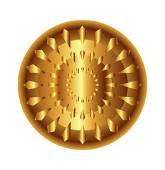 Golden light circular radial geometric dynamic shapes
