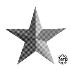 star, vector dots eps10