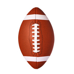 American Football Ball isolated on white