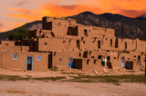 Adobe Houses in the Pueblo of Taos, New Mexico, USA. - 70645534