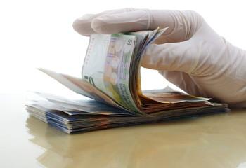 Geld Hand Arzt