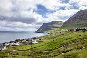 Part of the city of Klaksvik, Faroe Islands, North Atlantic4