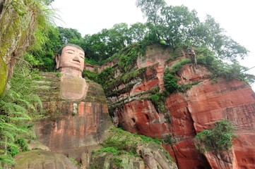 large buddha statue in leshan,sichuan,china