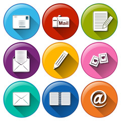 Icons with the different mailing tools