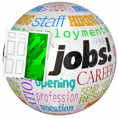 Jobs Career Door Open New World Work Opportunities