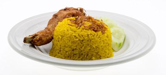 Asian's favourite dish : Chicken biryani with yellow rice