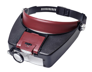 headband magnifer with detachable light source box
