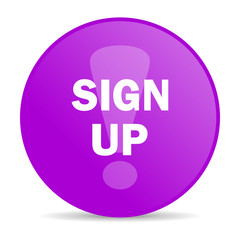 sign up web icon