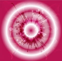 Grunge circles pink background