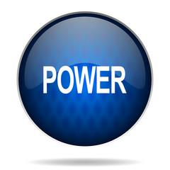 power internet blue icon