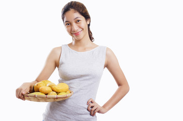 Lady With Mangoes