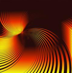 Orange twirl background
