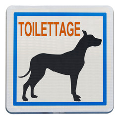panneau toilettage chiens