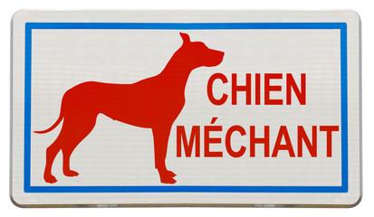 pancarte chien méchant