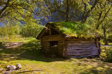 Old house near Briksdal glacier - Norway